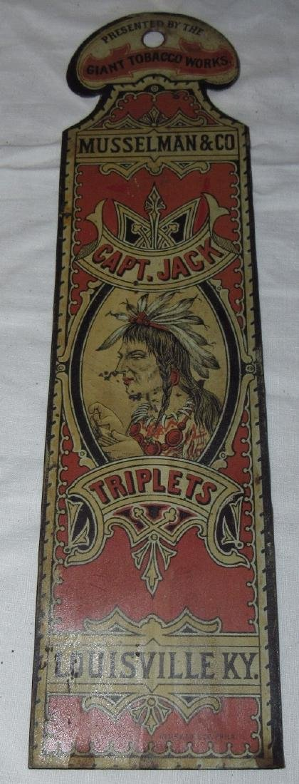 Musselman & Co. Capt Jack Triplets Tobacco Indian Sign - 2