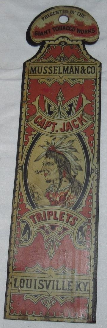 Musselman & Co. Capt Jack Triplets Tobacco Indian Sign - 3