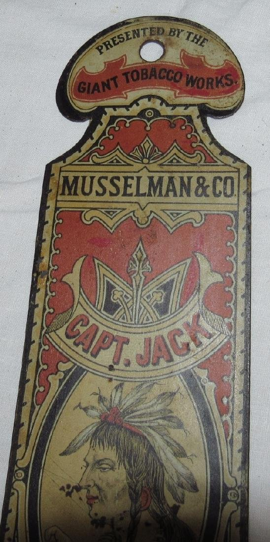 Musselman & Co. Capt Jack Triplets Tobacco Indian Sign - 4