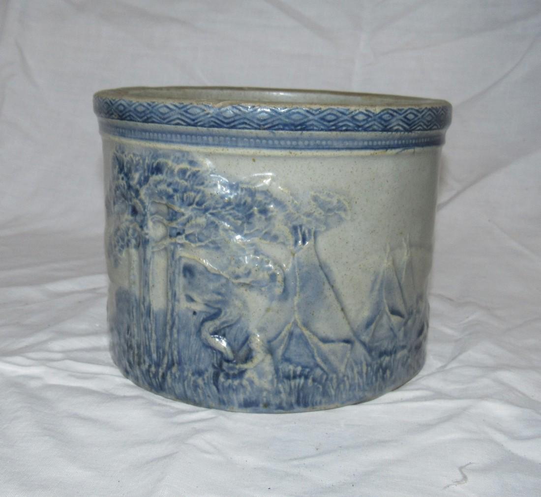 Stoneware Indian Scene Crock - 2