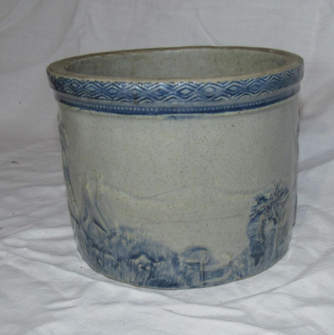 Stoneware Indian Scene Crock - 3