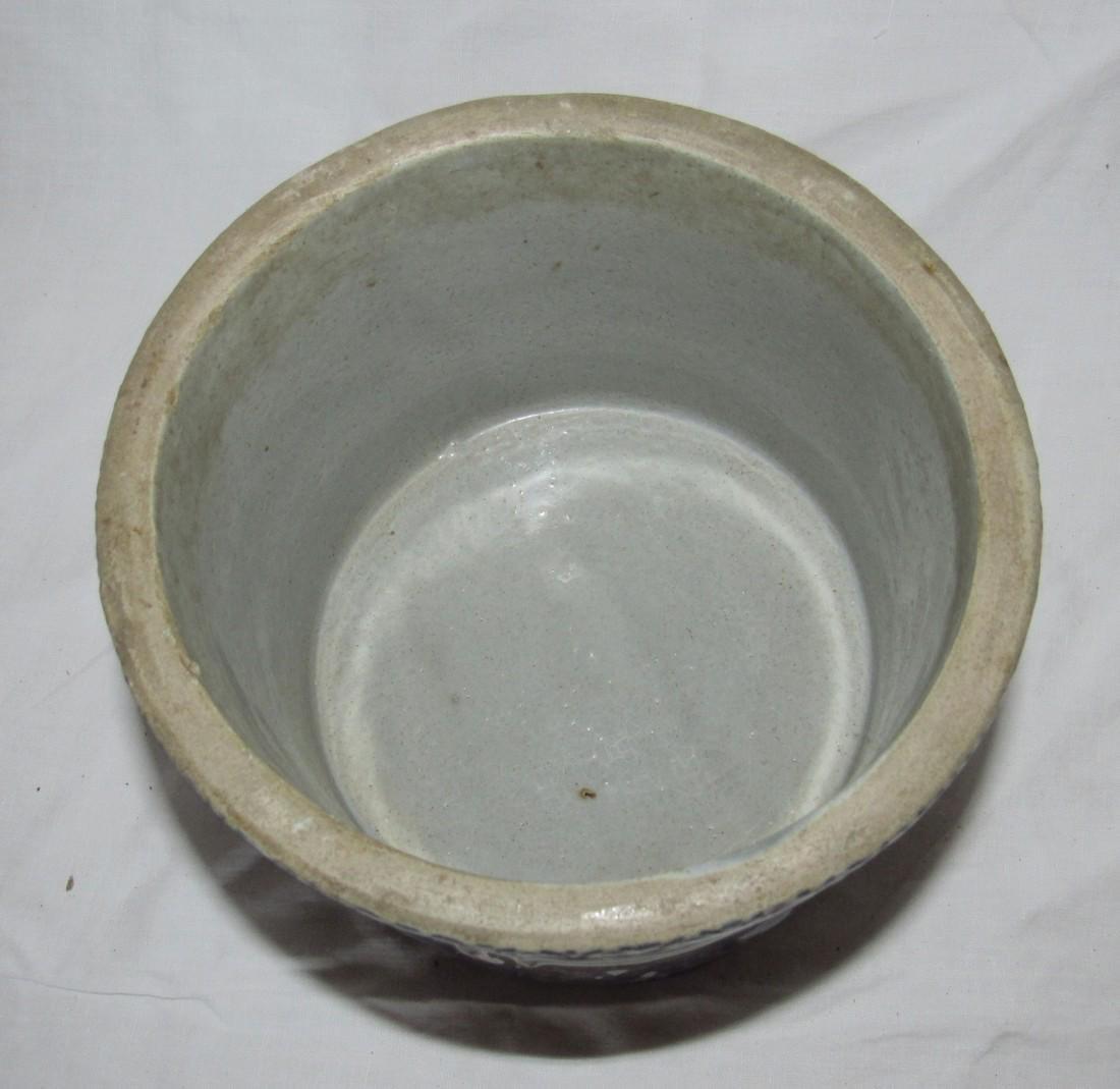 Stoneware Indian Scene Crock - 4