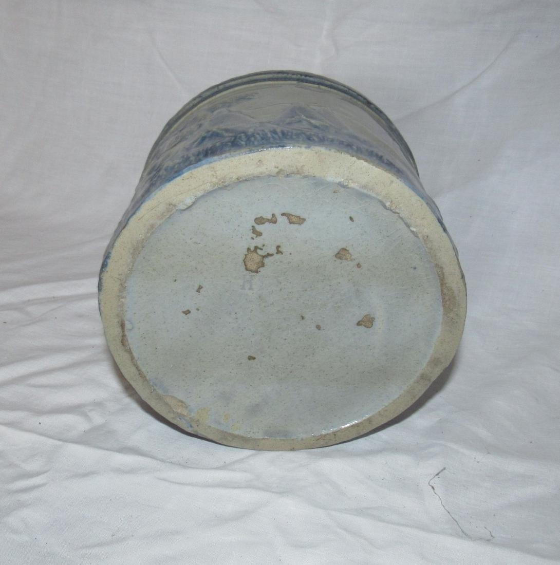 Stoneware Indian Scene Crock - 5