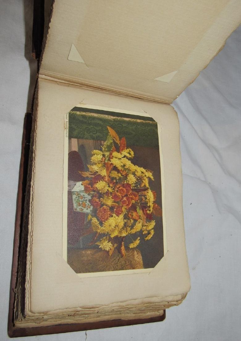 Postcard Album w/ 77 Flower Postcards - 7