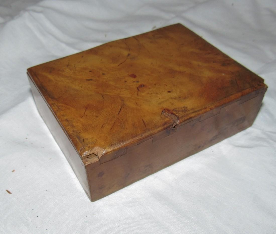 Burl Wood Box Compact & Daguerreotype Frame - 3
