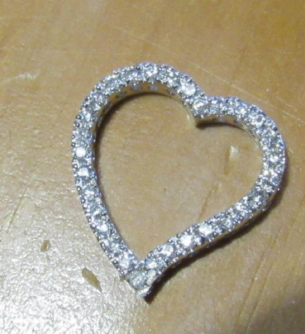 Sterling Heart With Diamond Chips - 2
