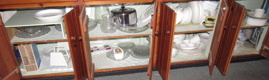 Mikasa Dinnerware & Cabinet Contents