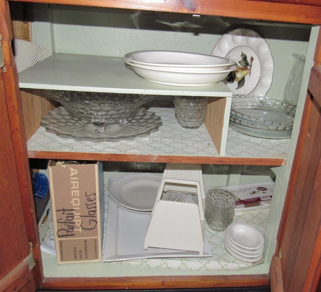 Mikasa Dinnerware & Cabinet Contents - 2
