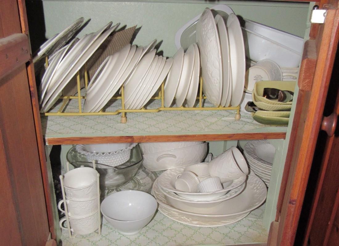 Mikasa Dinnerware & Cabinet Contents - 4