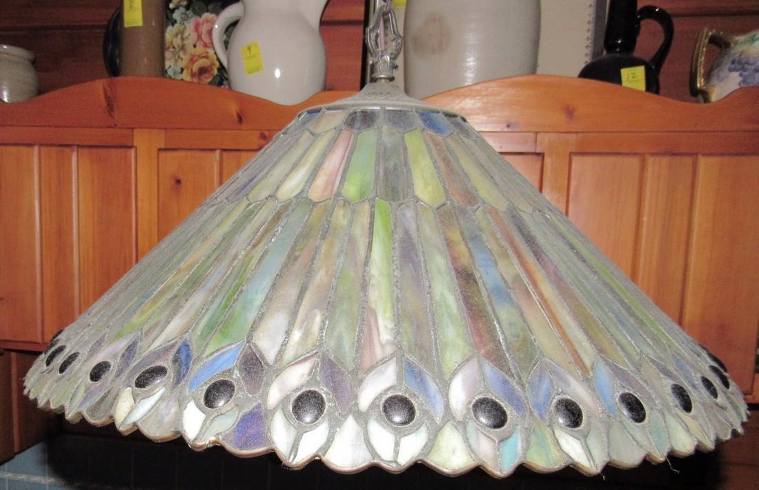 Slag Glass Lamp Shade - 2