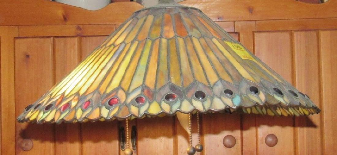Slag Glass Lamp Shade - 3
