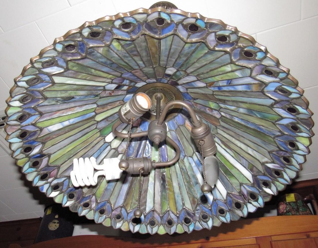 Slag Glass Lamp Shade - 4