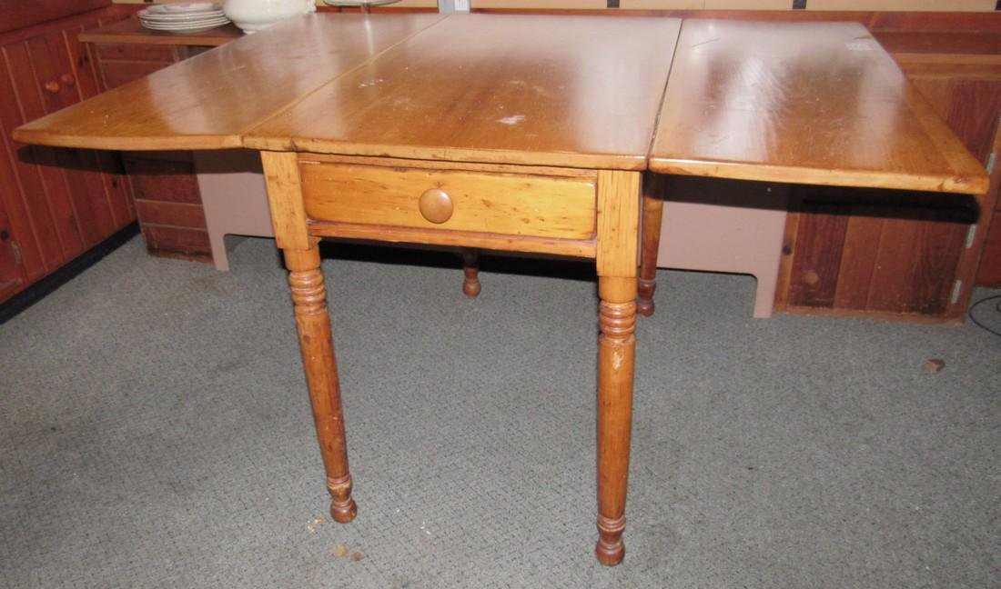 Drop Leaf One Drawer Table