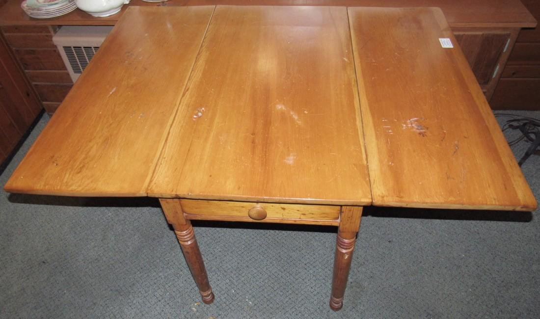 Drop Leaf One Drawer Table - 2