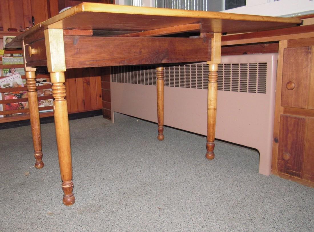 Drop Leaf One Drawer Table - 3