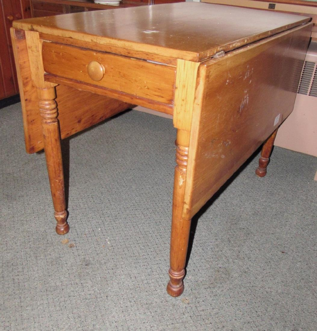 Drop Leaf One Drawer Table - 5