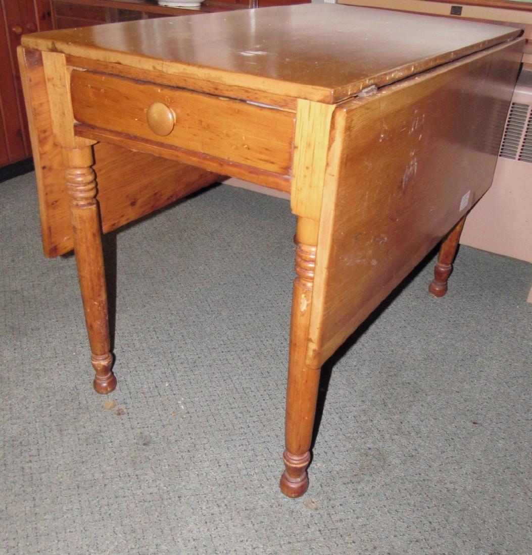 Drop Leaf One Drawer Table - 5