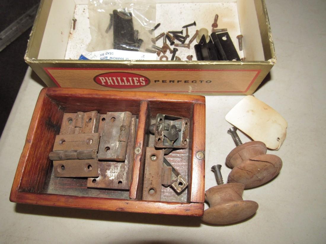Wood Box w/ Furniture Hardware Hinges & Pulls - 2