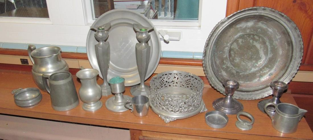 Pewter Silverplate & Misc