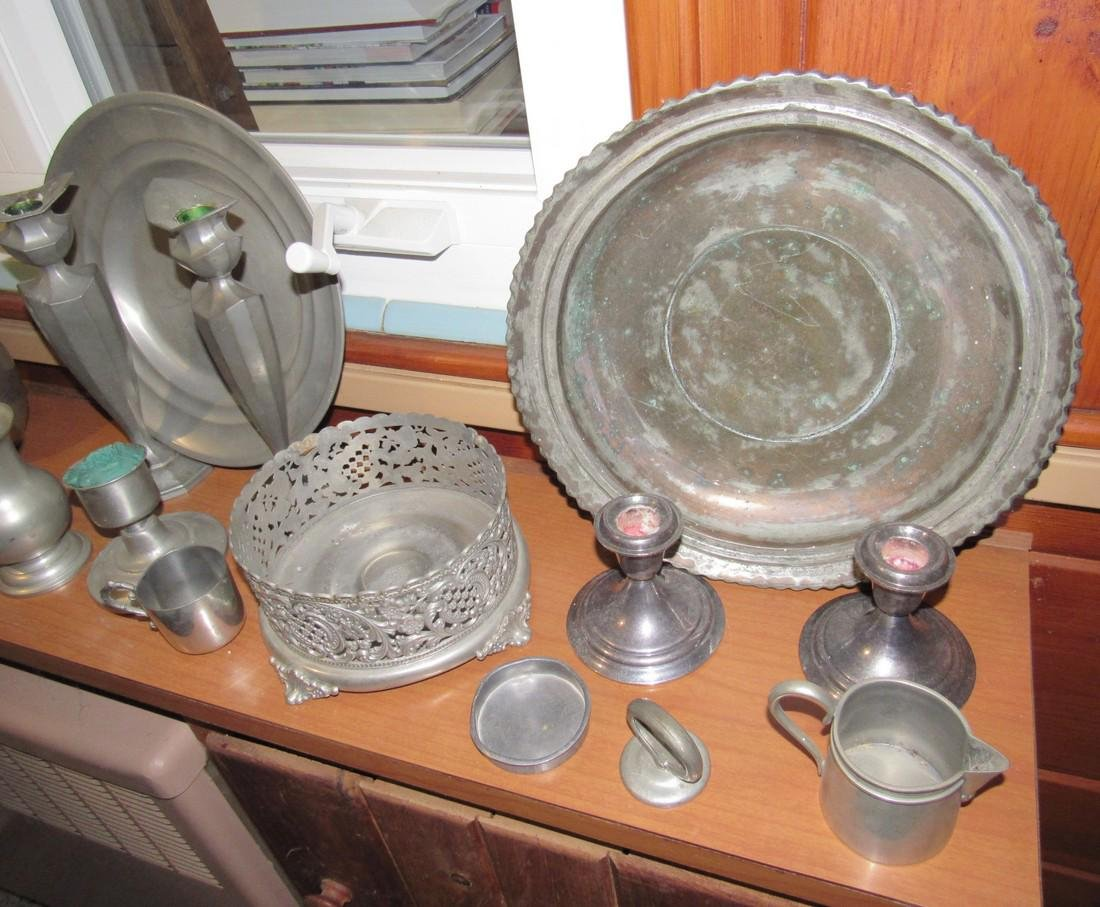 Pewter Silverplate & Misc - 3