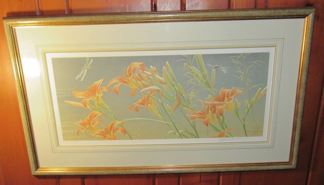 Robert Bateman Signed & Numbered Flower Print