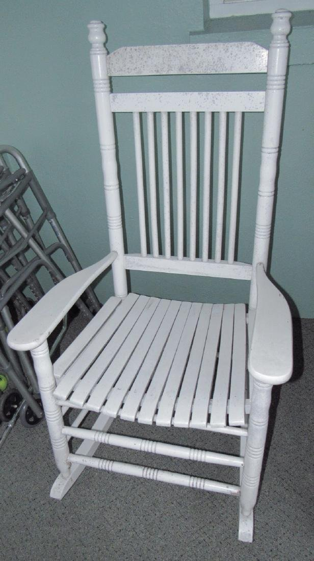 White Painted Rocker