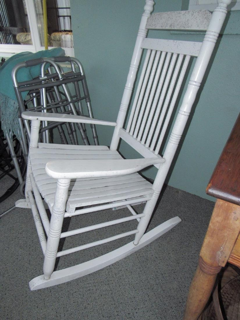 White Painted Rocker - 2