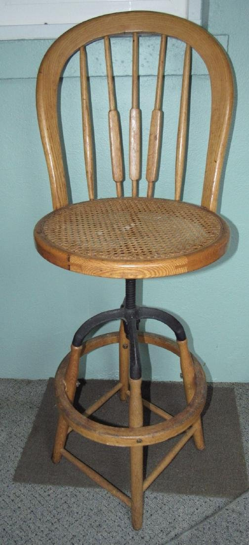 Industrial Stool w/ Cane Seat