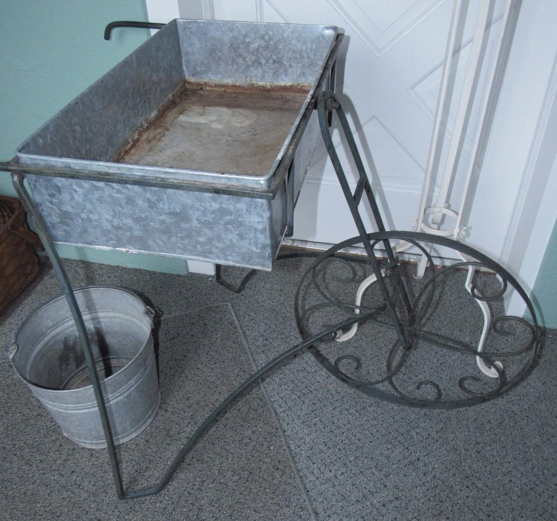 Flower Cart Galvanized Bucket & Planter - 2
