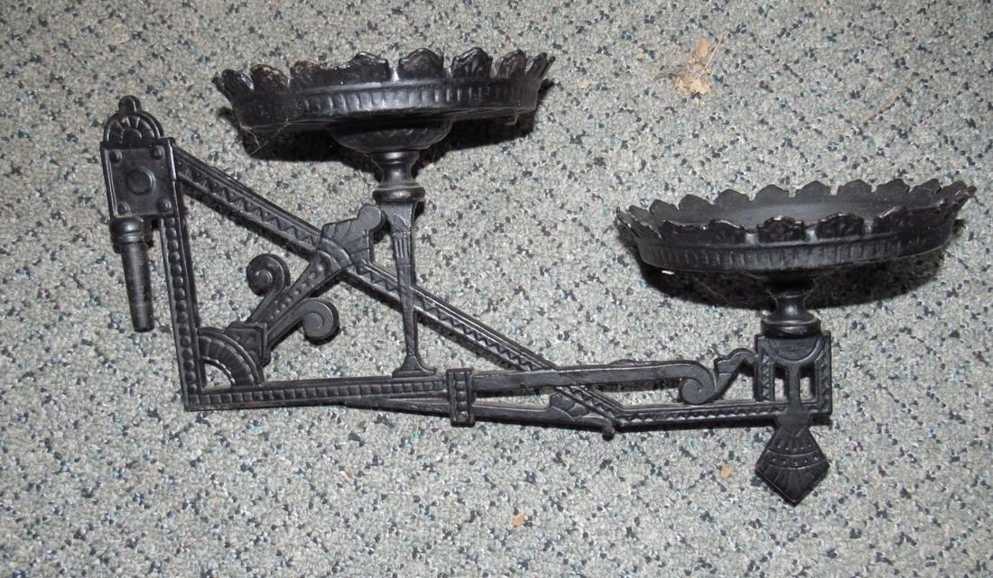 Cast Iron Oil Lamp Wall Bracket