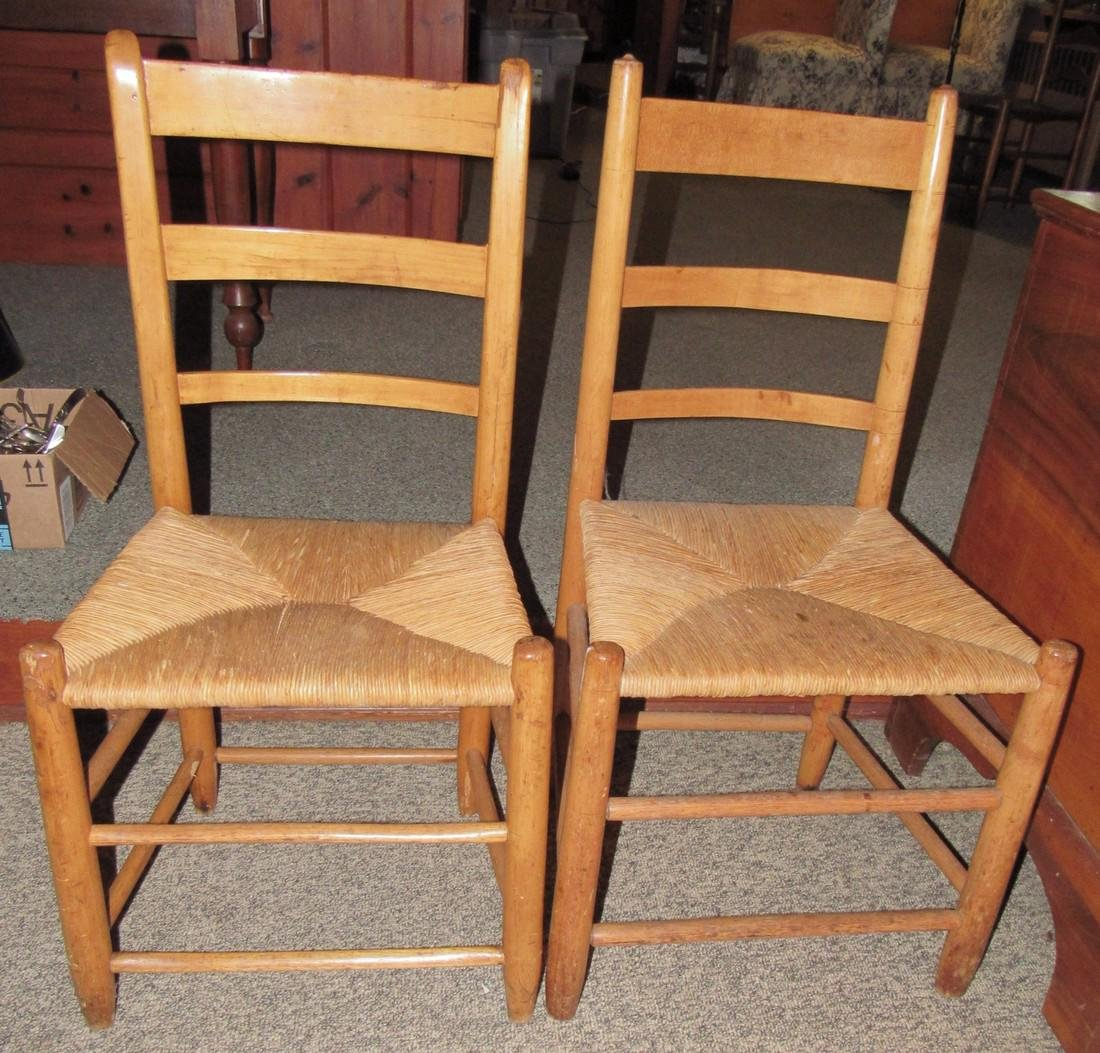 2 Rush Seat Chairs