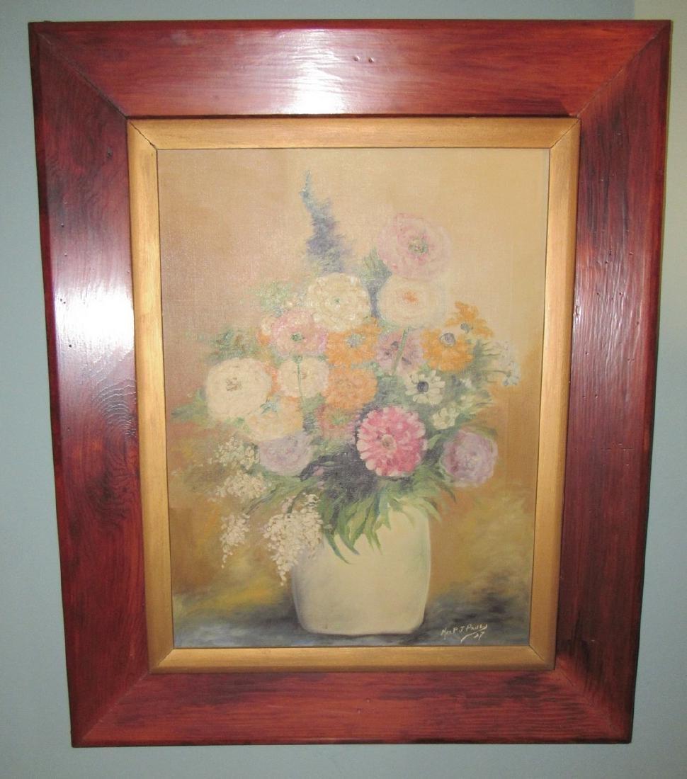 Mrs PJ Paul 1927 Oil On Canvas Painting