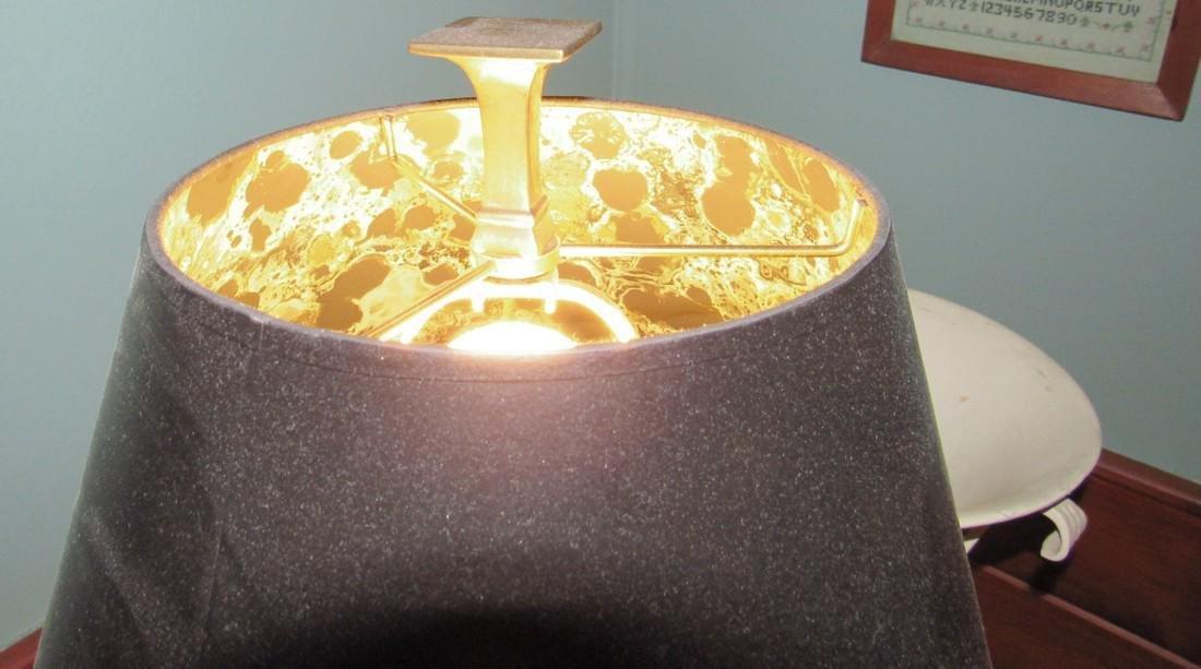 Brass Floor Lamp & Planter - 3