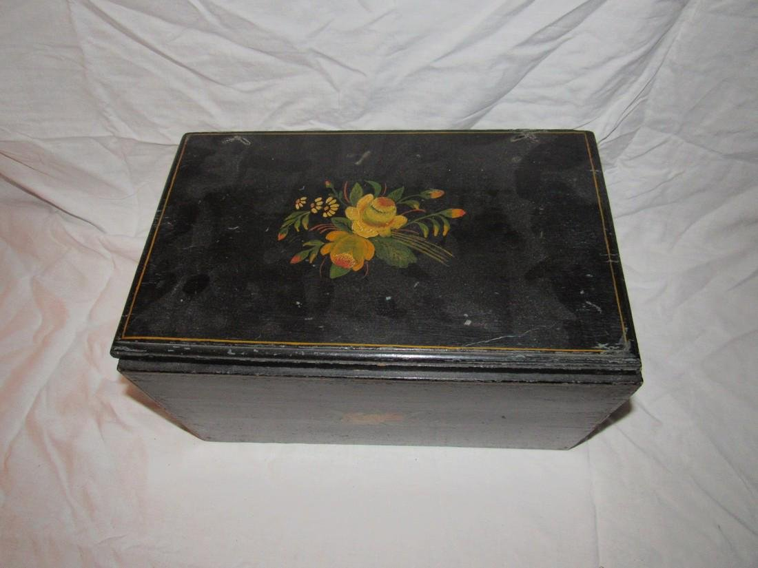 Painted Wood Box - 2