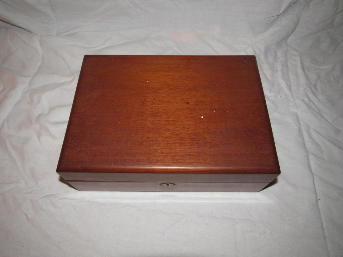 Wood Document Box w/ 2 1/2 Cent Stamps on bottom - 2
