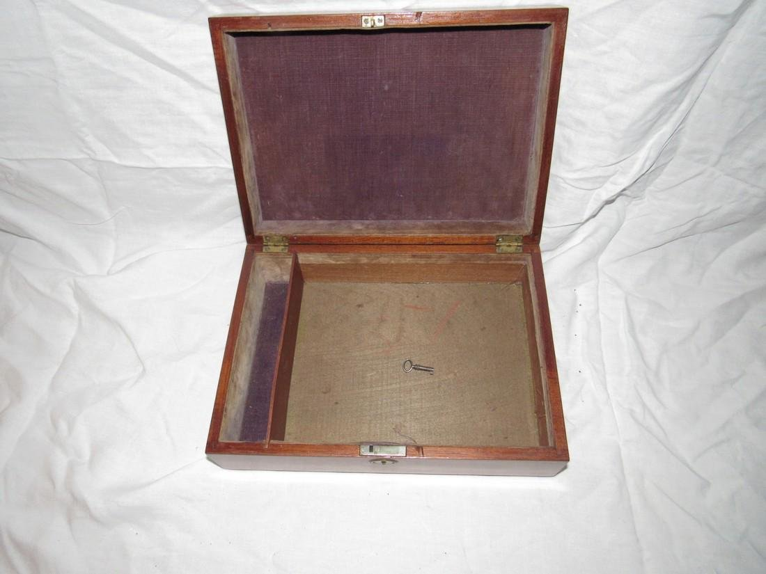 Wood Document Box w/ 2 1/2 Cent Stamps on bottom - 3