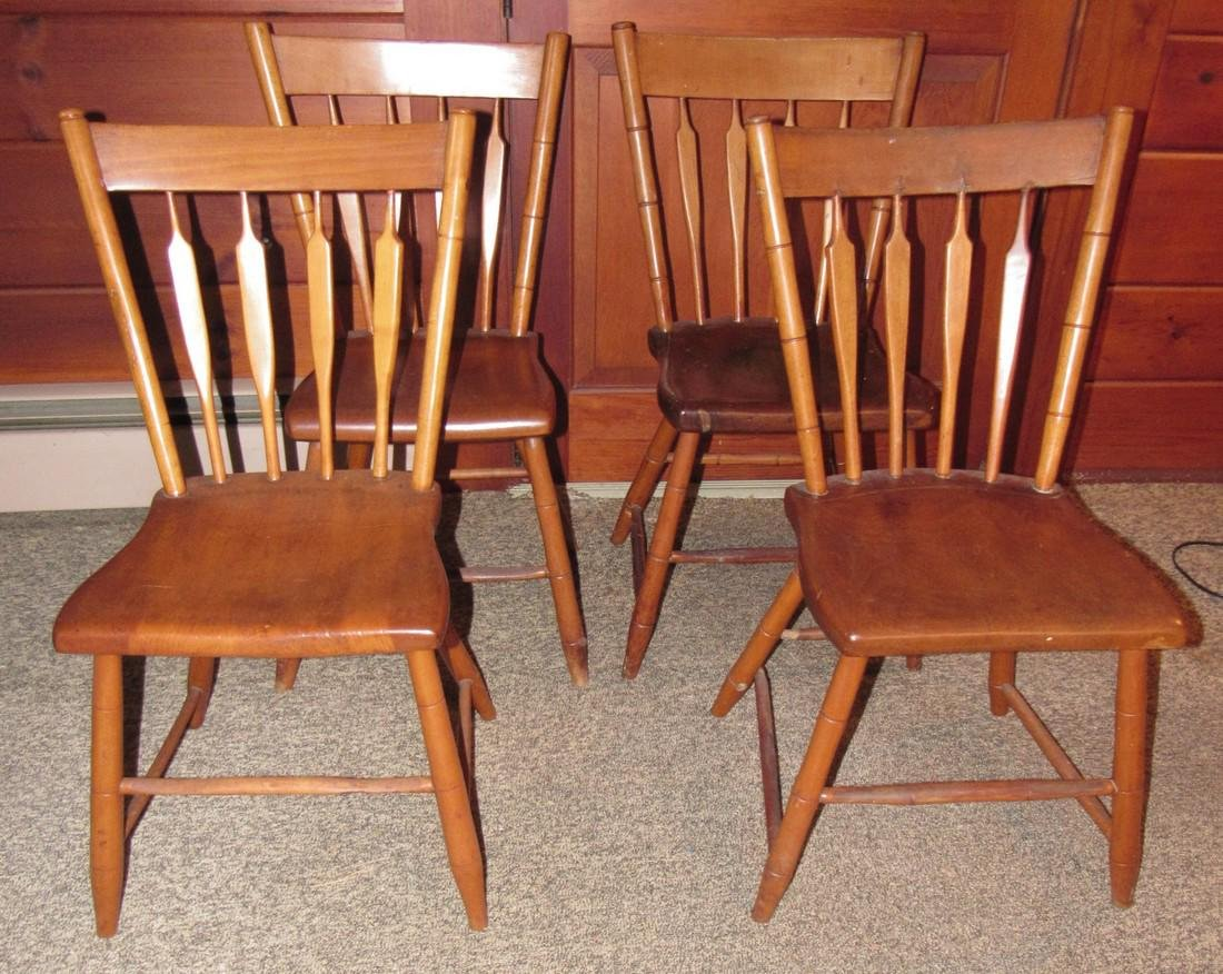 Set of 4 Plank Chairs - 2