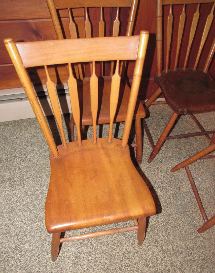 Set of 4 Plank Chairs - 3