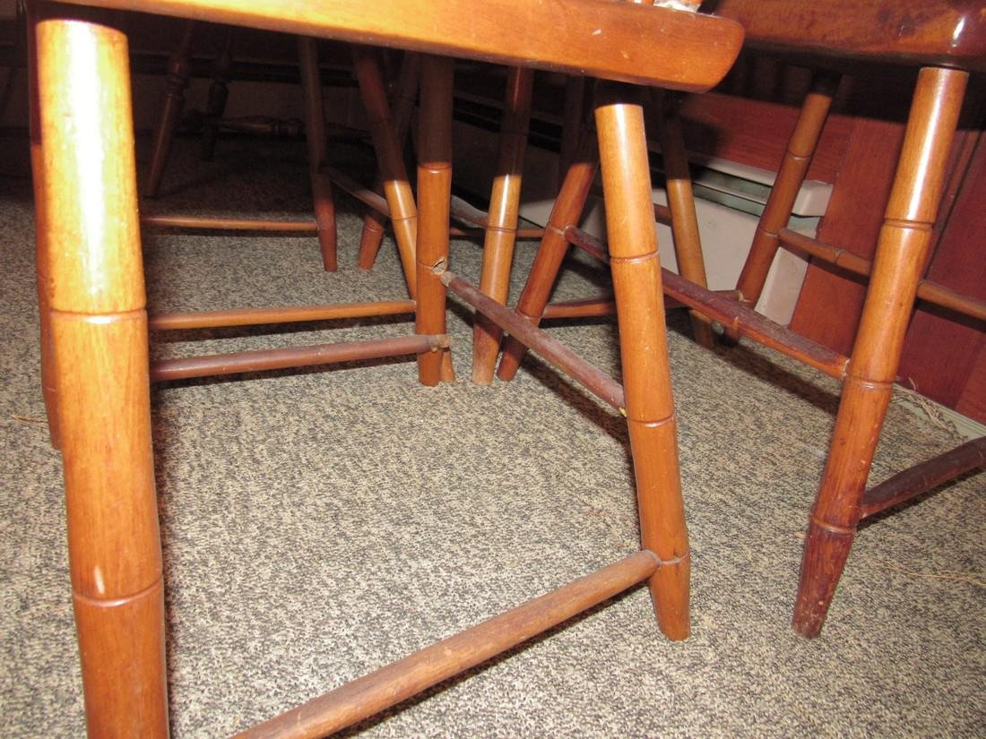Set of 4 Plank Chairs - 4