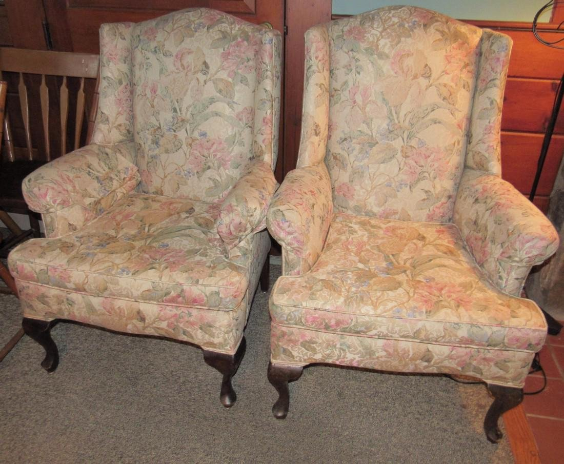 Pair of Wing Chairs