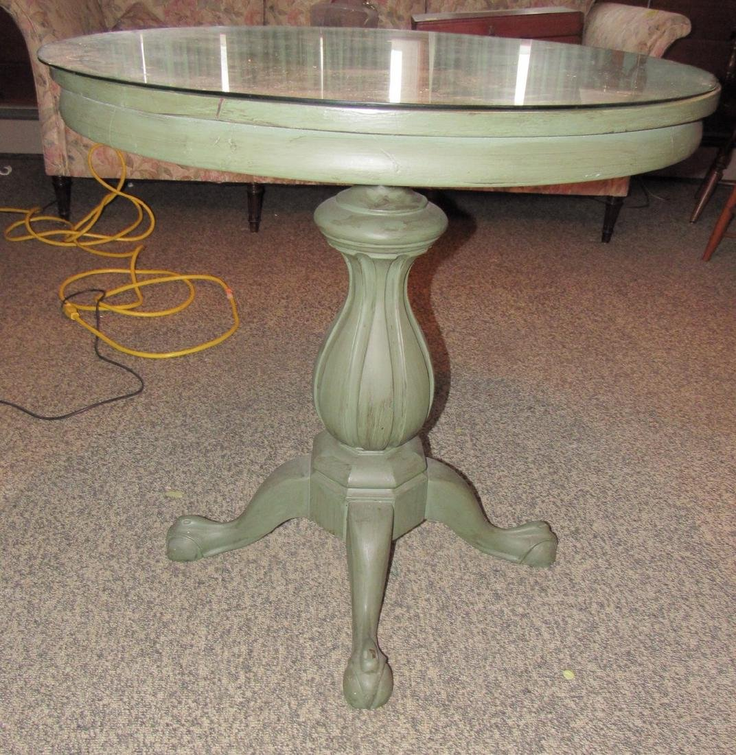 Green Painted Round Table