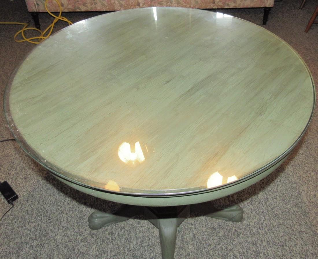 Green Painted Round Table - 2