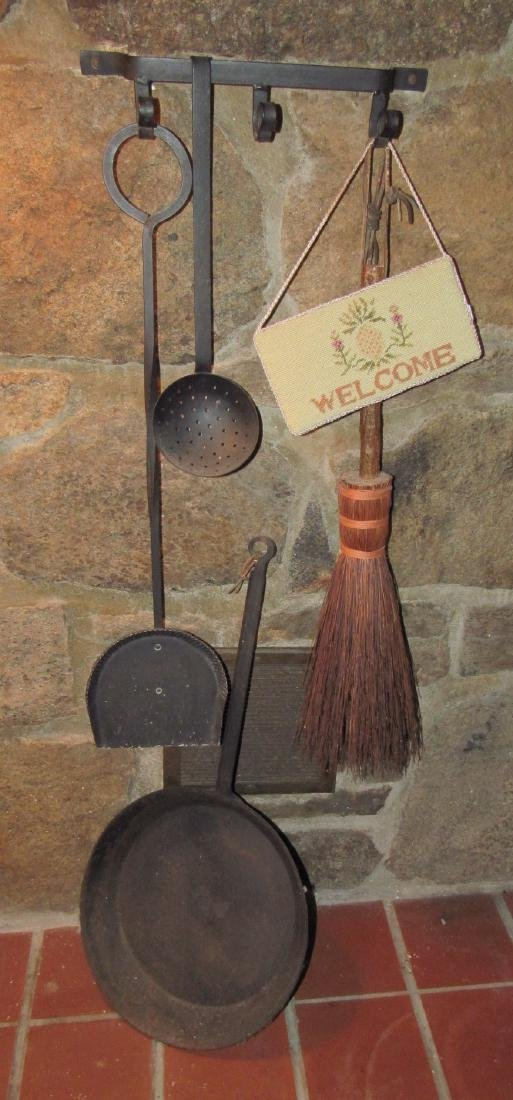 Fireplace Tools Skillet Slotted Ladle