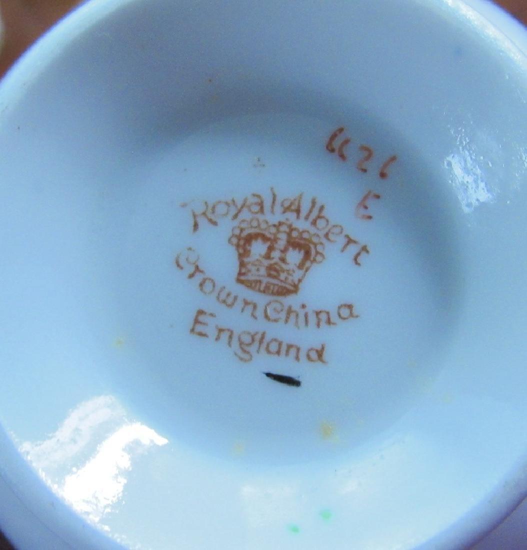 Royal Albert Bone China Tea Set Cups Saucers Creamer - 3