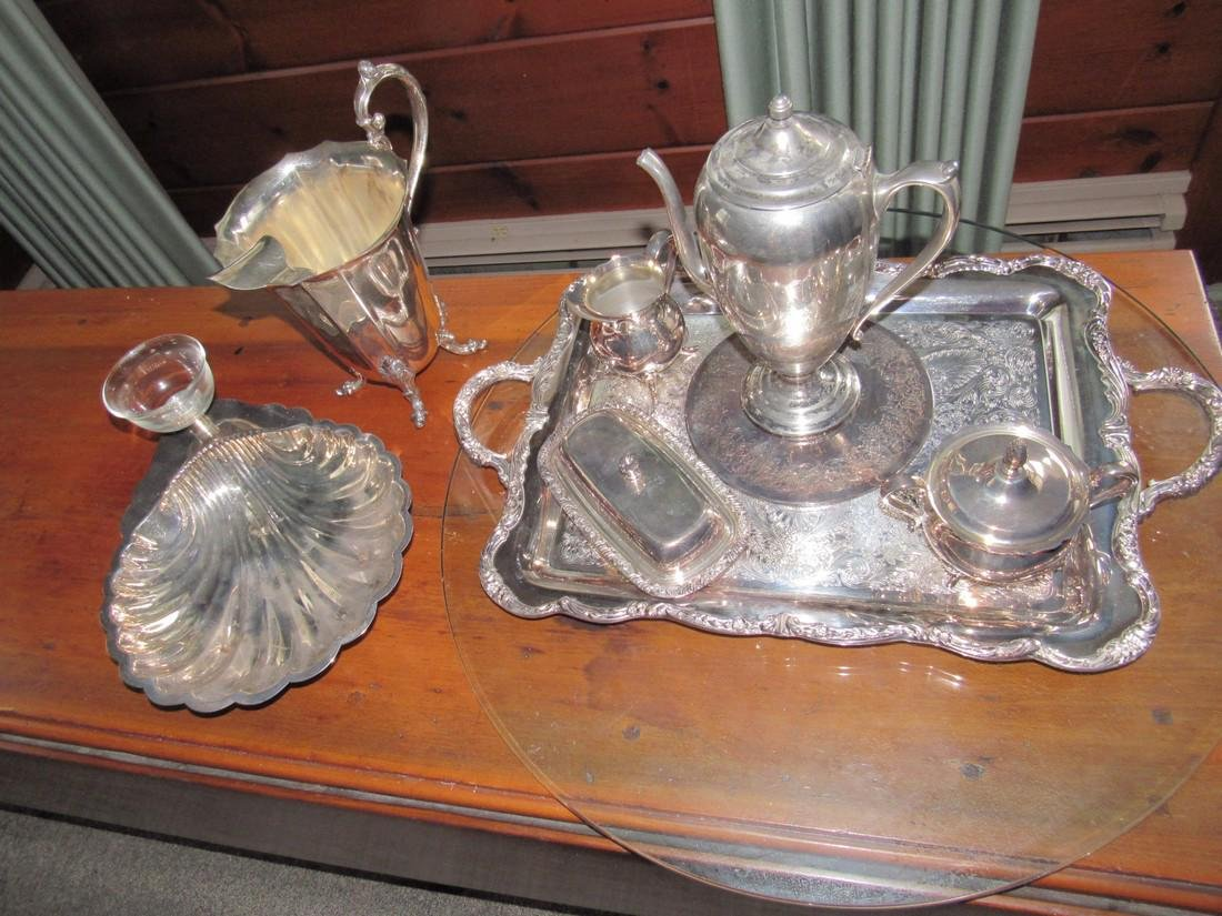 Misc Silverplate including Newport - 2