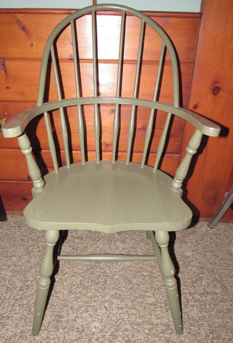 Green Painted Windsor Chair