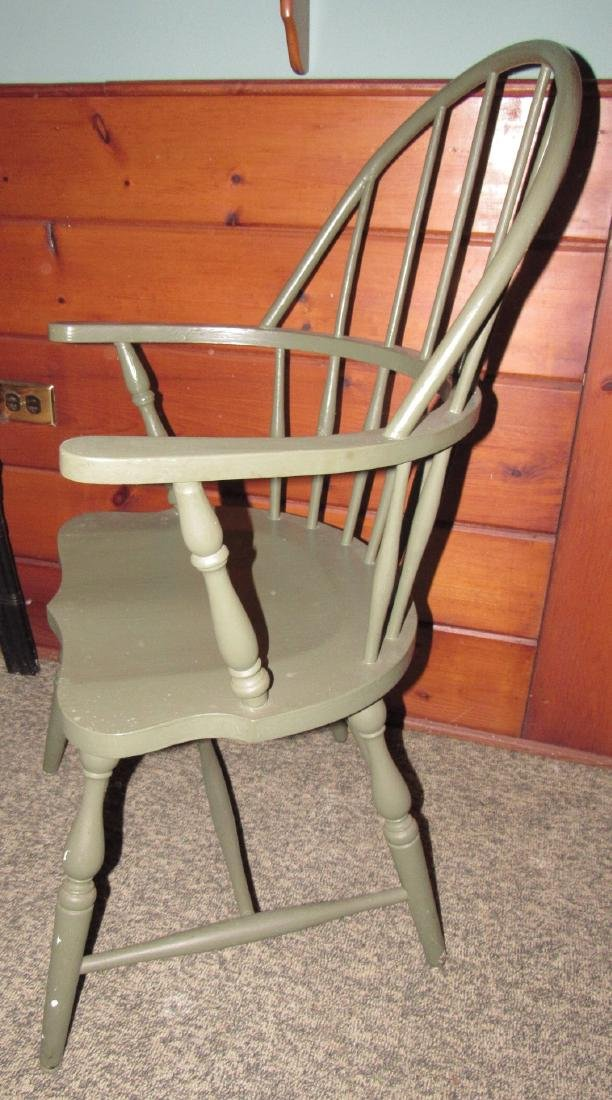 Green Painted Windsor Chair - 2