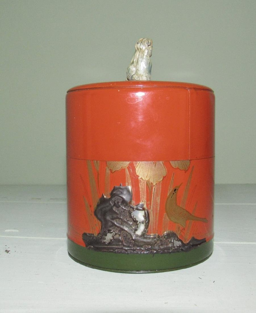 Tin with Foo Dog Made in Japan - 2