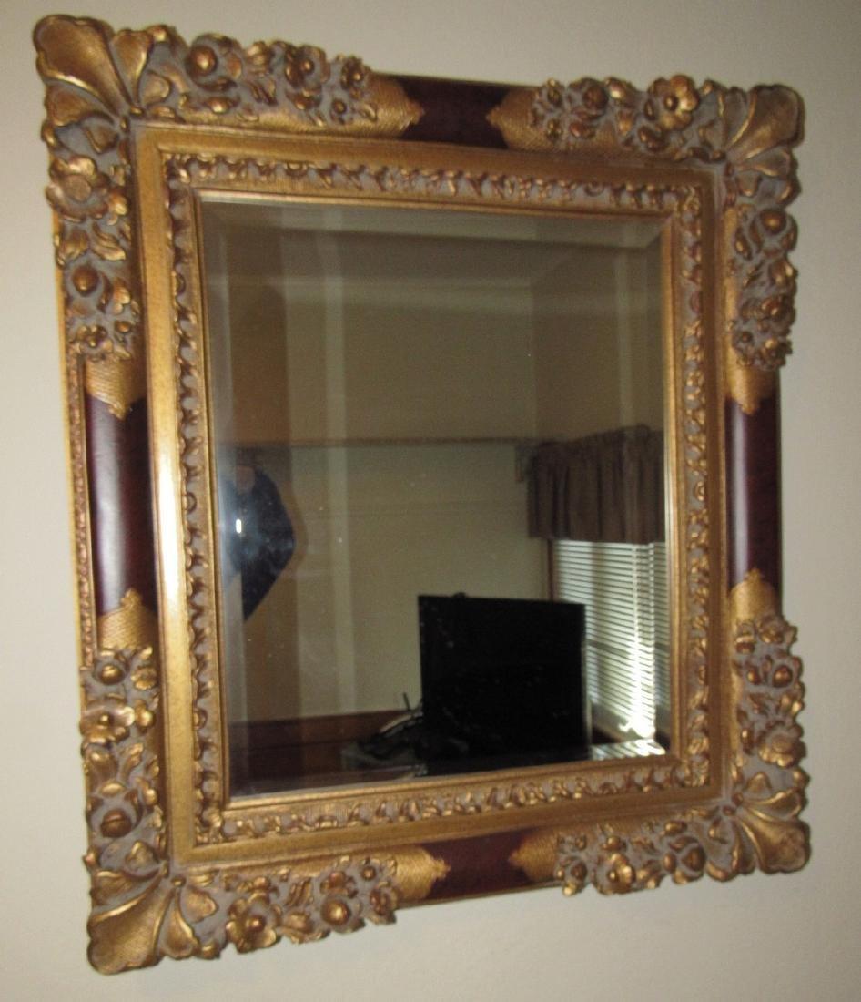 Gold Guilt Type Mirror