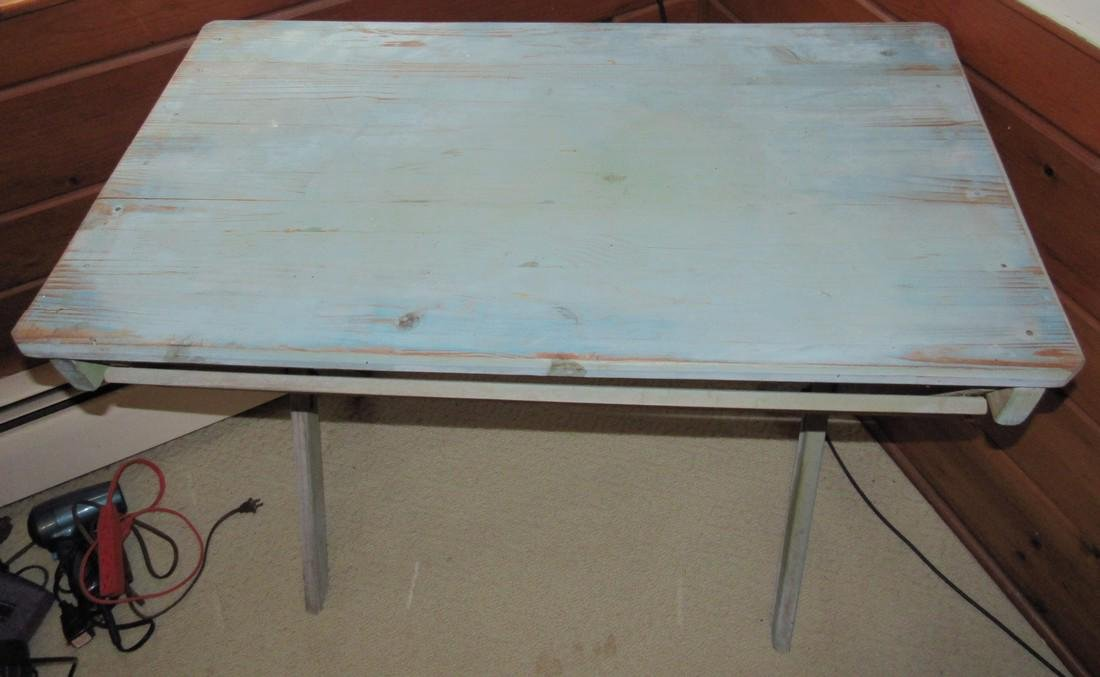 Blue Painted Restaurant Table - 2